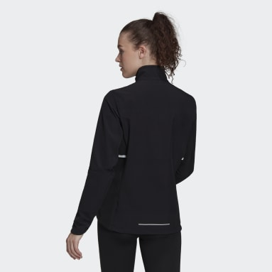 Women Running Black adidas Own The Run Soft Shell Jacket