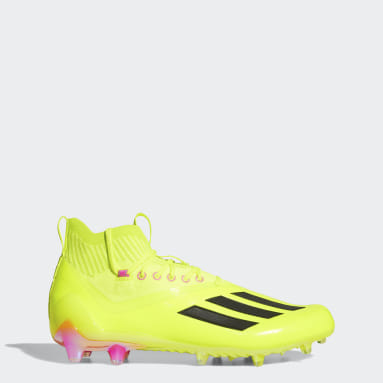 Men's Football Yellow Adizero Primeknit Cleats