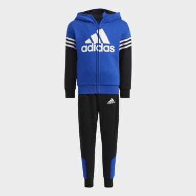 Conjunto Badge of Sport Fleece Azul Niño Gimnasio Y Entrenamiento