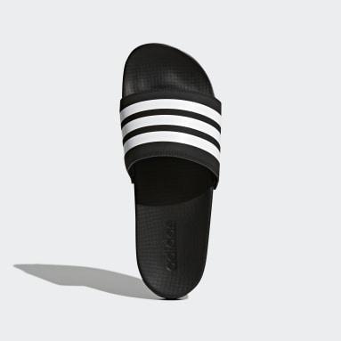 черный Шлепанцы adilette Cloudfoam Plus Stripes