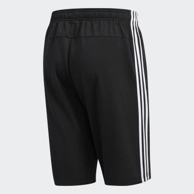 Men's Sport Inspired Black Essentials 3-Stripes Shorts