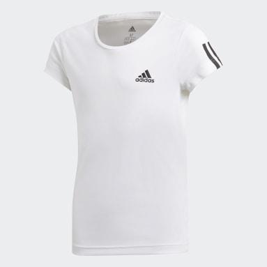 Girls Yoga White Equipment T-Shirt