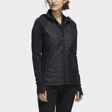 Dames Golf zwart Sport Performance Recycled Polyester Quilted Ritsjack