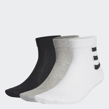 ไลฟ์สไตล์ สีขาว ถุงเท้าหุ้มข้อ 3-Stripes (3 คู่)
