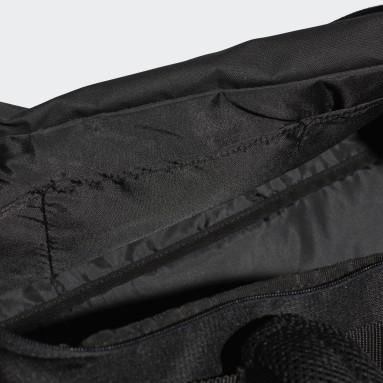 Feldhockey Convertible 3-Streifen Duffelbag M Schwarz