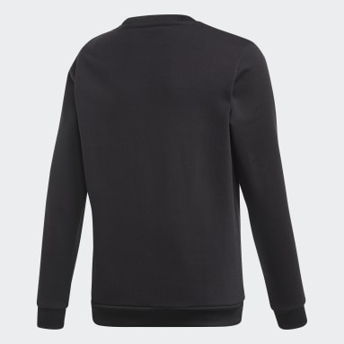 Youth Originals Black Debossed Trefoil Crew Sweatshirt