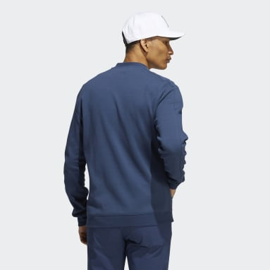 Men's Golf Blue Go-To Recycled Content Quilted Full-Zip Jacket