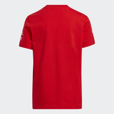 เด็ก บาสเกตบอล สีแดง เสื้อยืด Donovan Mitchell Marvel
