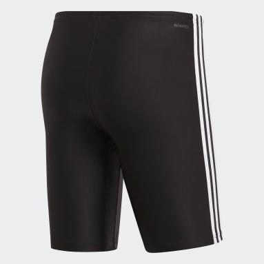 Men Swimming Black 3-Stripes Swim Jammers