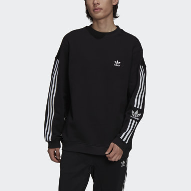 Sweat-shirt Adicolor Classics Lock-Up Trefoil Crewneck Noir Hommes Originals