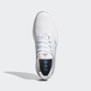 Men's Golf White ZG21 Wide Golf Shoes