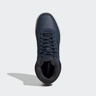 Men's Essentials Blue Hoops 2.0 Mid Shoes