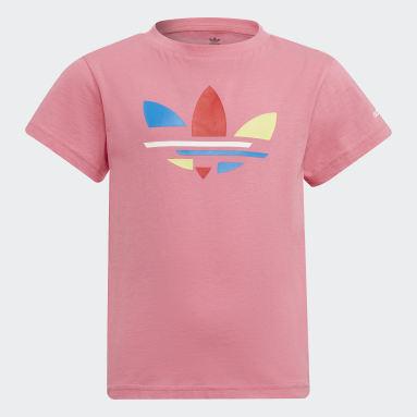 Kids Originals Pink Adicolor Tee