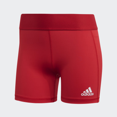 Women's Volleyball Red Techfit Volleyball Shorts