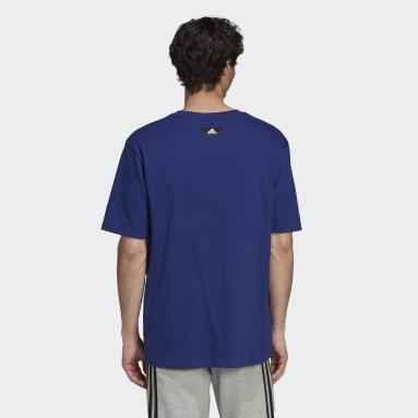 Men Sportswear Blue adidas Sportswear Future Icons Logo Graphic T-Shirt