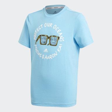 Boys Lifestyle Turquoise Aaron Kai x adidas Graphic Tee