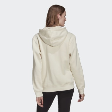Hoodie adicolor Essentials Fleece Bianco Donna Originals