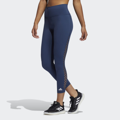 Women's Yoga Blue Believe This 2.0 Lace-Up 7/8 Tights