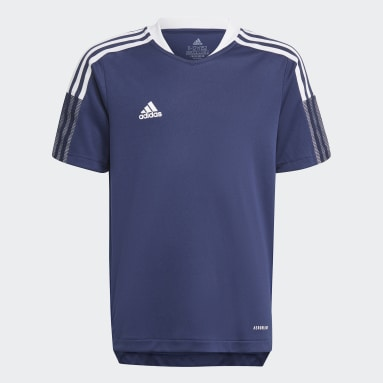 Kinder Fußball Tiro 21 Trainingstrikot Blau