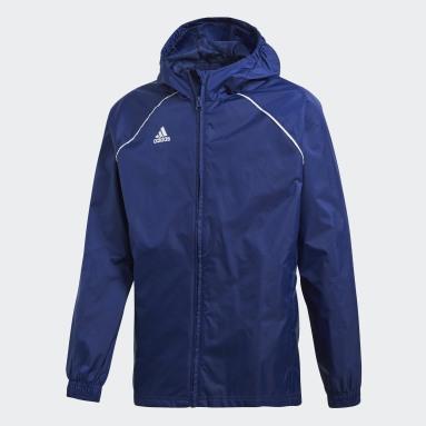 Kids Gym & Training Blue Core 18 Rain Jacket