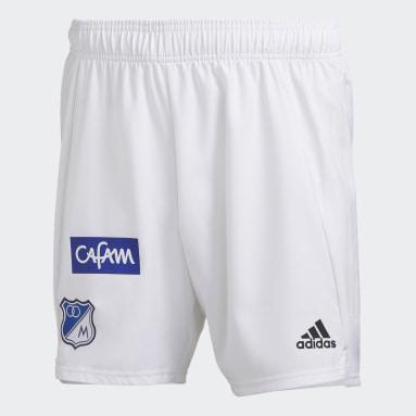 Shorts de Local Millonarios FC Blanco Hombre Fútbol
