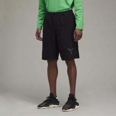 Men Y-3 Black Y-3 Classic Heavy Piqué Shorts
