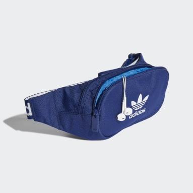 Cangurera Adicolor Branded Webbing Azul Originals
