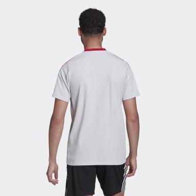 Men Football Grey Manchester United Tiro Polo Shirt
