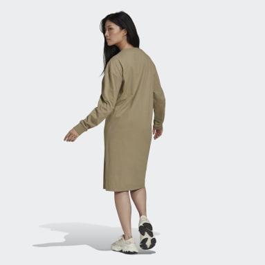Women Originals Green Long Sleeve Dress