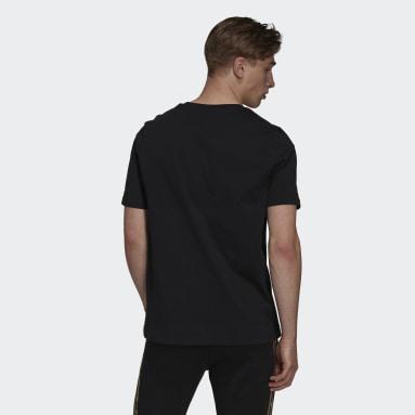 Camiseta Estampada Essentials Camouflage Preto Homem Estilo Esportivo