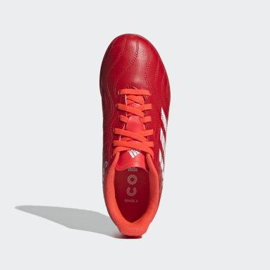 Children Soccer Red Copa Sense.4 Turf Shoes