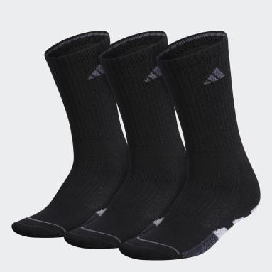 Women's Training Black Cushioned Crew Socks 3 Pairs