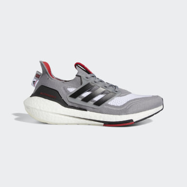 Running Grey NC State Ultraboost 21 Shoes
