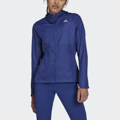 Giacca a vento Own the Run Hooded Blu Donna Running