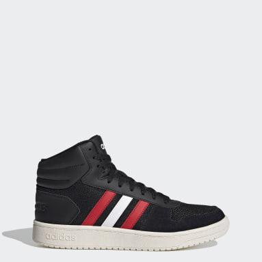 Men Sport Inspired Black Hoops 2.0 Mid Shoes
