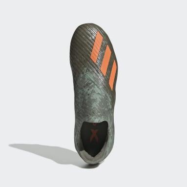 Children Soccer Green X 19+ Firm Ground Cleats