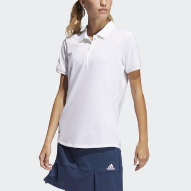 Women Golf White Ultimate365 Solid Polo Shirt