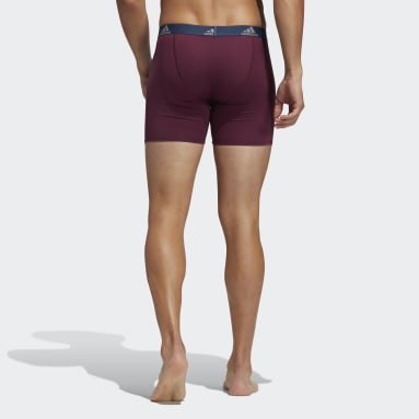 Men's Training Red Performance Boxer Briefs 3 Pairs