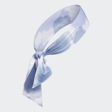 Training Blue Alphaskin Print Tie Headband