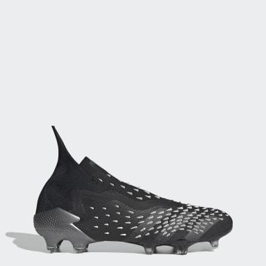 Football Black Predator Freak+ Firm Ground Boots