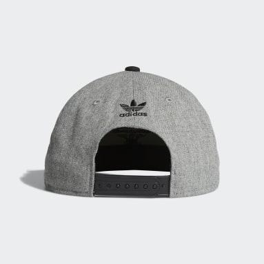 Men's Originals Grey Trefoil Chain Snap-Back Cap