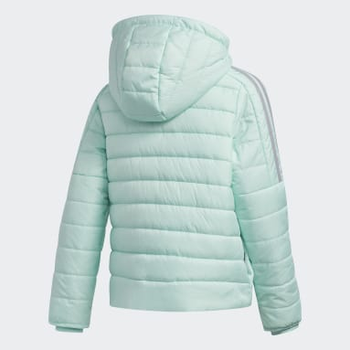 Mädchen Fitness & Training Classic Puffer Jacke Türkis