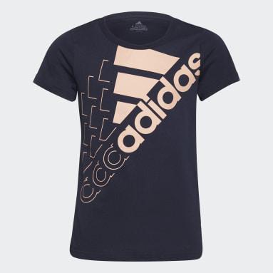 T-shirt Essentials Logo Blu Ragazza Sportswear