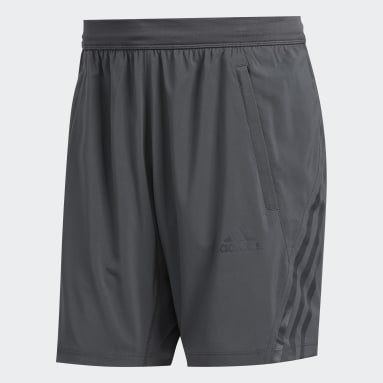 Herr HIIT Grå AEROREADY 3-Stripes 8-Inch Shorts