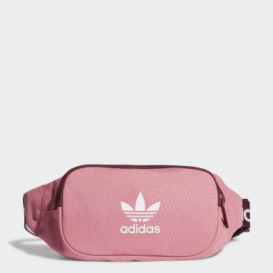 Originals Pink Adicolor Branded Webbing Waist Bag