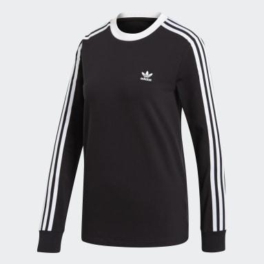 Kvinder Originals Sort 3-Stripes T-shirt