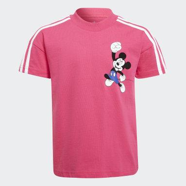 Camiseta Disney Mickey Mouse Rosa Niño Gimnasio Y Entrenamiento