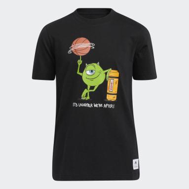 Children Basketball Black Big Kids Laugh Canister Tee