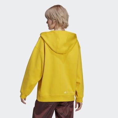 aSMC SC FZ HOOD Giallo Donna adidas by Stella McCartney