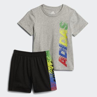 Children Training Grey Gamescape Shorts Set